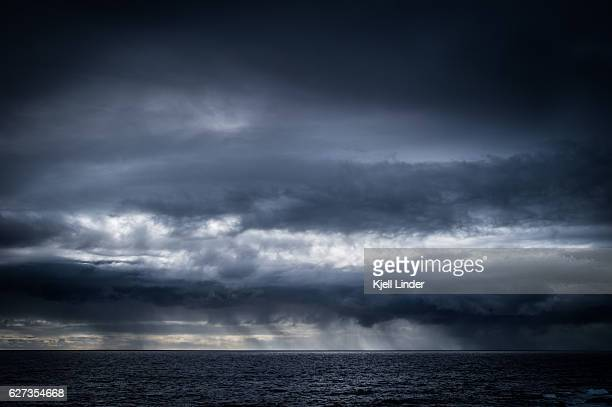 Stormy skies over the Pacific