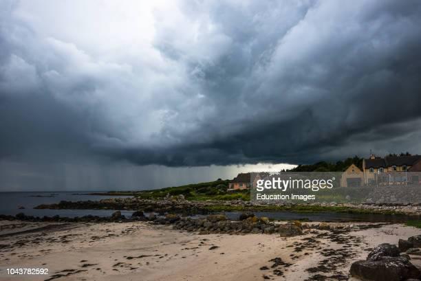 Stormy sky on county Galways south coast, Republic of Ireland.