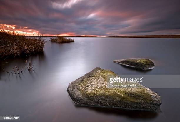 stormy sunset, west yorkshire - simon higginbottom stock pictures, royalty-free photos & images