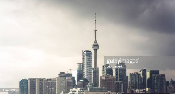 stormy toronto downtown - cityscape stock pictures, royalty-free photos & images
