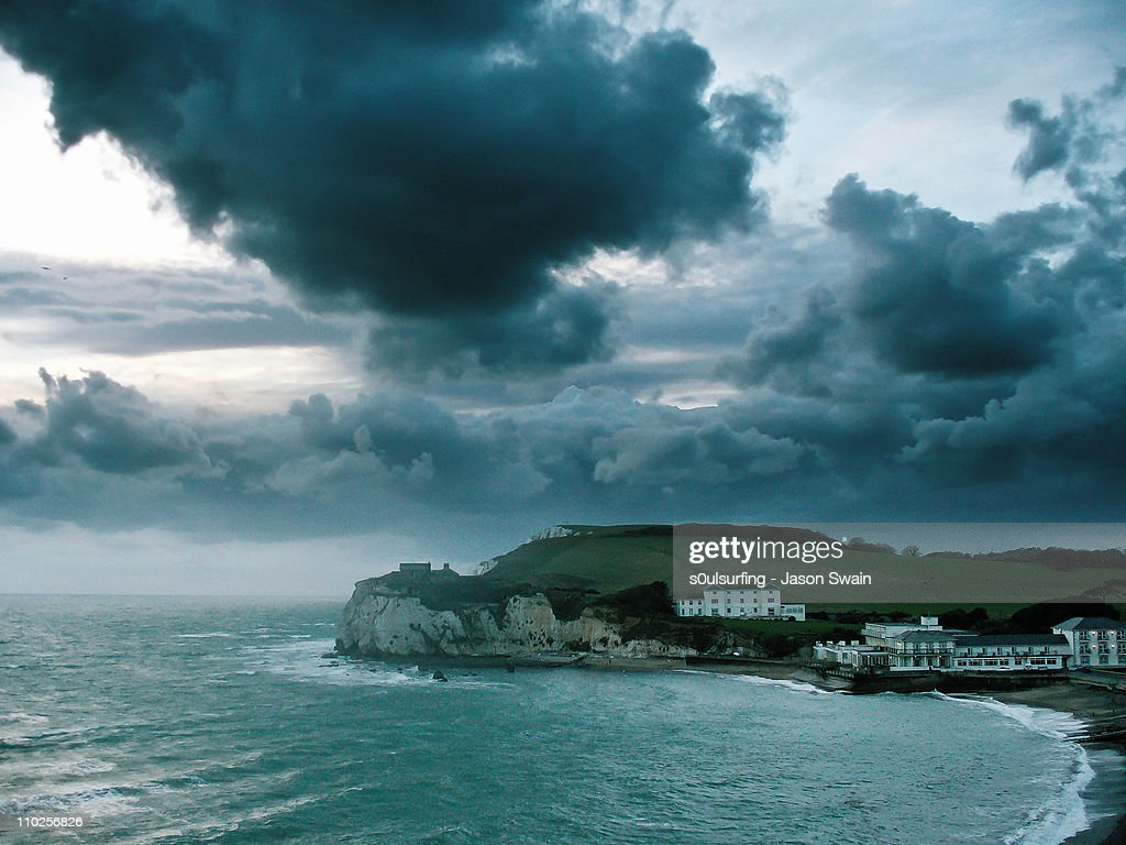 Stormy weather along south coast of England : Stock Photo