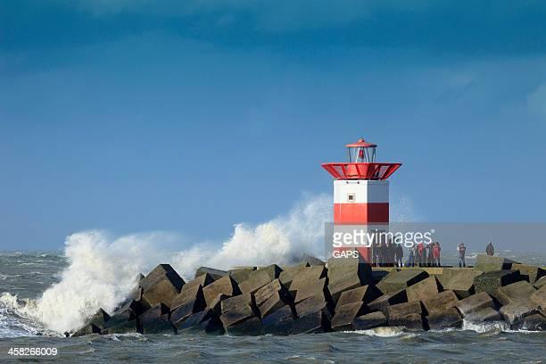 stormy weather along the Dutch coast