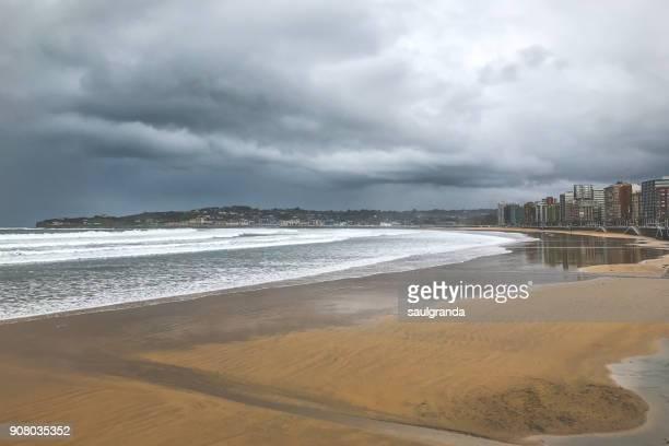 Stormy weather on San Lorenzo beach