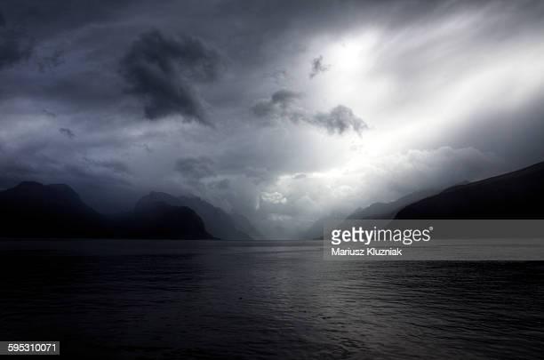 Stormy weather over Hjorundfjord