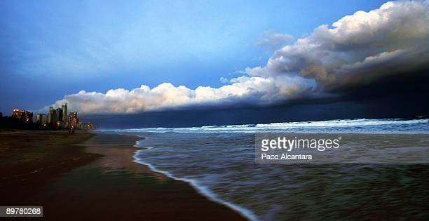 Stormy weather over ocean