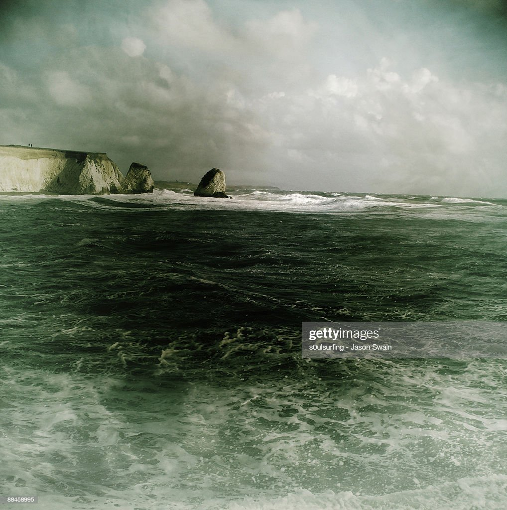 Stormy weather over sea  : Stock Photo