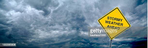stormy weather - warning sign stock pictures, royalty-free photos & images