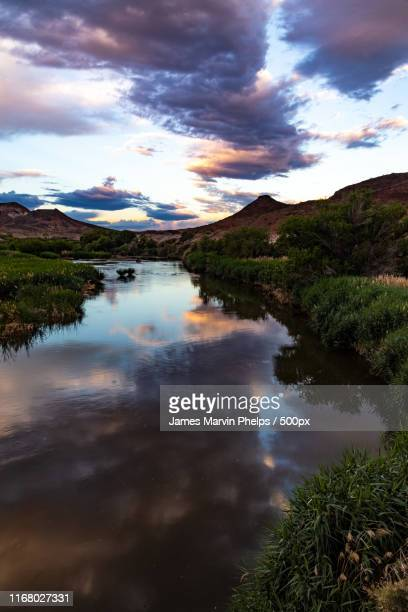 stormy weather reflection - henderson nevada stock pictures, royalty-free photos & images