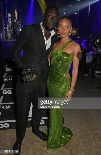 Stormzy and Adwoa Aboah attend the the GQ Men Of The Year Awards 2019 in association with HUGO BOSS at the Tate Modern on September 3, 2019 in...