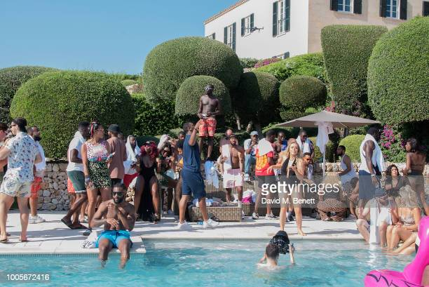 Stormzy and guests enjoy themselves as Spotify Premium throws the ultimate party in Spain for his 25th birthday on July 26 2018 in Menorca Spain