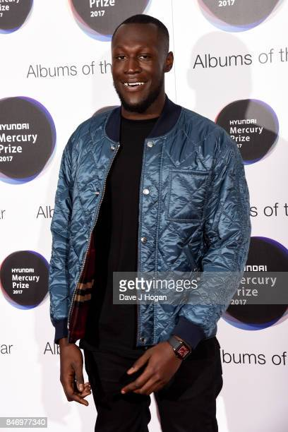 Stormzy arrives at the Hyundai Mercury Prize 2017 at Eventim Apollo on September 14 2017 in London England