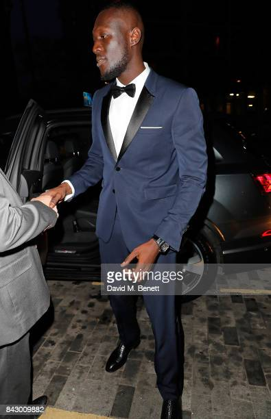 Stormzy arrives in an Audi at the GQ Men of the Year Awards at Tate Modern on September 5 2017 in London England