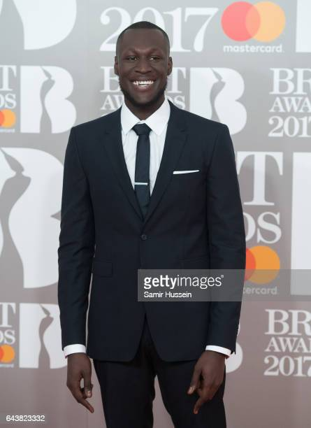 ONLY Stormzy attends The BRIT Awards 2017 at The O2 Arena on February 22 2017 in London England