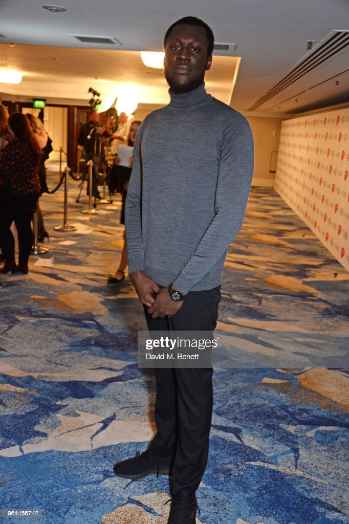 Stormzy attends the Ivor Novello Awards 2018 at Grosvenor House, on May 31, 2018 in London, England.