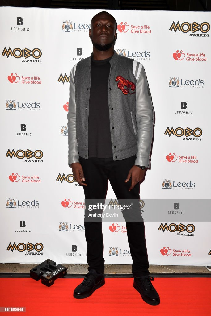 Stormzy attends the MOBO Awards at First Direct Arena Leeds on November 29, 2017 in Leeds, England.