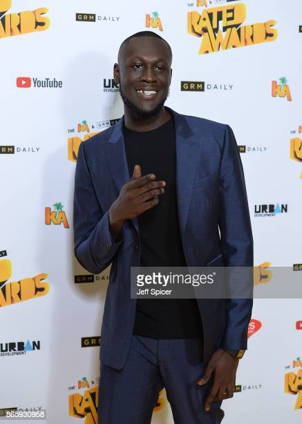 Stormzy attends The Rated Awards at The Roundhouse on October 24 2017 in London England