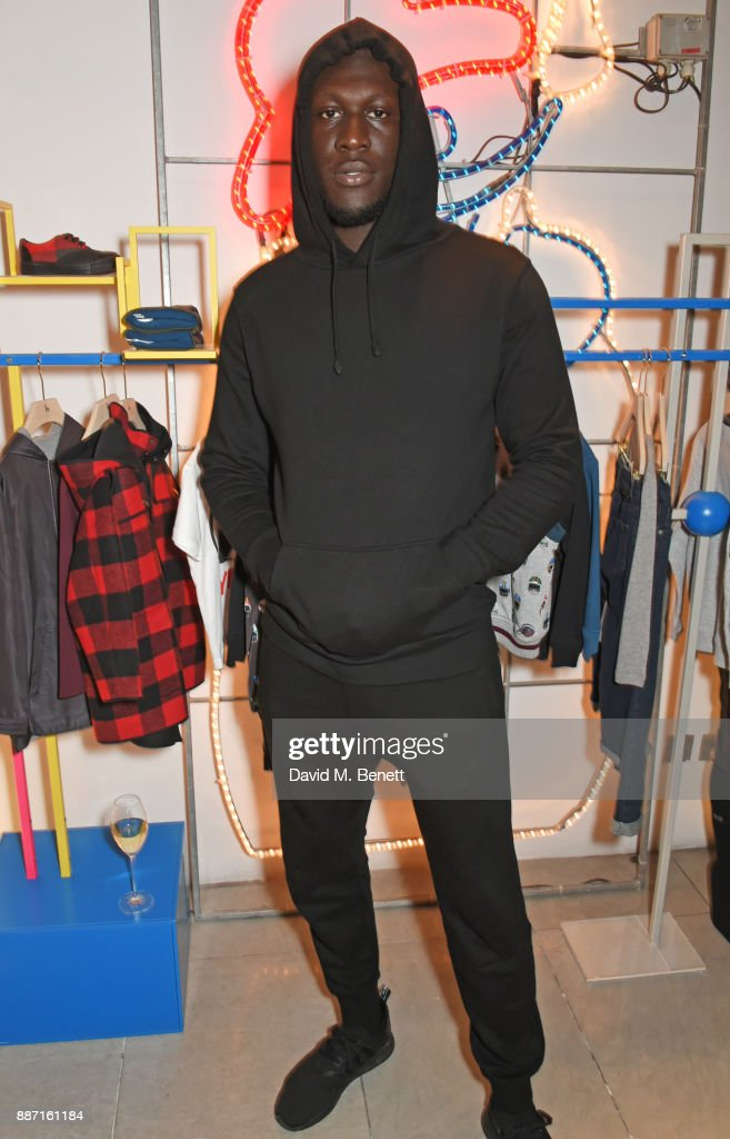 Stormzy attends the Stella McCartney Christmas Lights 2017 party on December 6, 2017 in London, England.