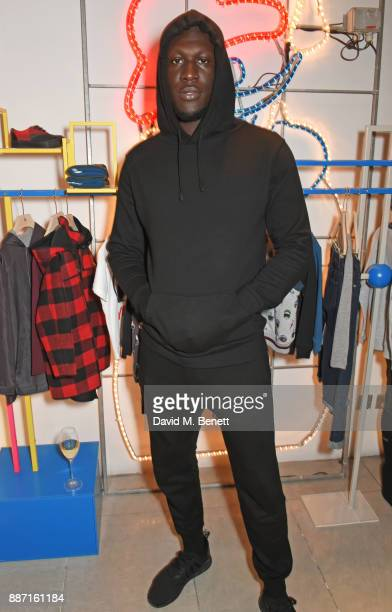 Stormzy attends the Stella McCartney Christmas Lights 2017 party on December 6 2017 in London England