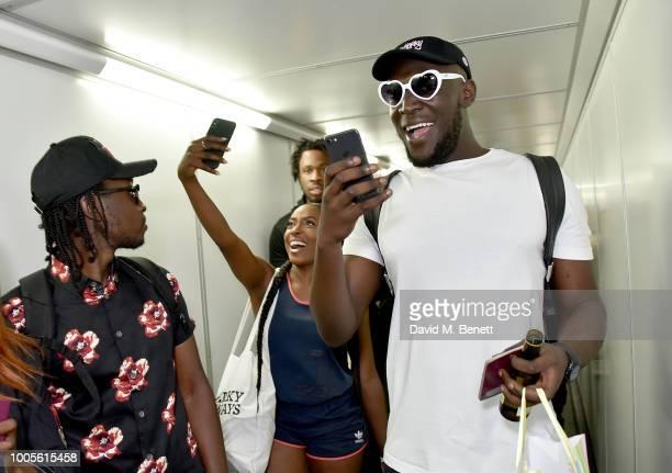 Stormzy boards #MerkyAirways as Spotify Premium throws the ultimate party in Spain for his 25th birthday on July 26 2018 in Menorca Spain