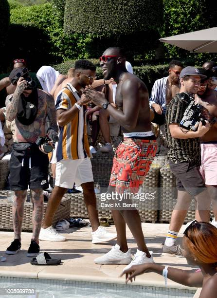 Stormzy enjoys himself as Spotify Premium throws the ultimate party in Spain for his 25th birthday on July 26 2018 in Menorca Spain