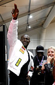london england exclusive coverage stormzy gestures