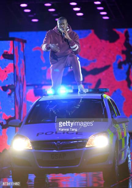 Stormzy on stage during the MTV EMAs 2017 held at The SSE Arena Wembley on November 12 2017 in London England