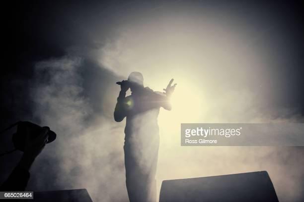 Stormzy performs at O2 Academy Glasgow on April 5 2017 in Glasgow Scotland
