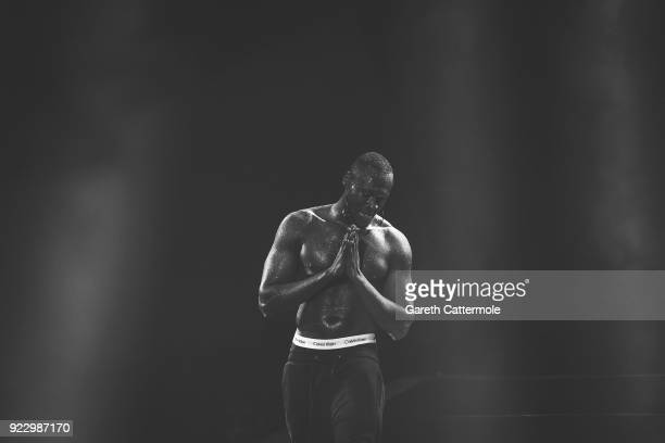Stormzy performs at The BRIT Awards 2018 held at The O2 Arena on February 21 2018 in London England