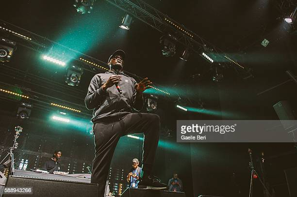 Stormzy performs live at Flow Festival on August 12 2016 in Helsinki Finland