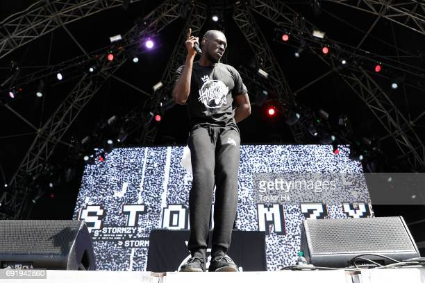 Stormzy performs live onstage during 2017 Governors Ball Music Festival Day 2 at Randall's Island on June 3 2017 in New York City