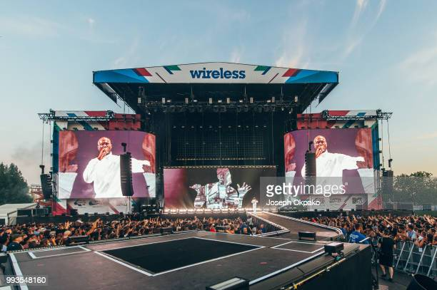 Stormzy performs on Day 2 of Wireless Festival 2018 at Finsbury Park on July 7 2018 in London England