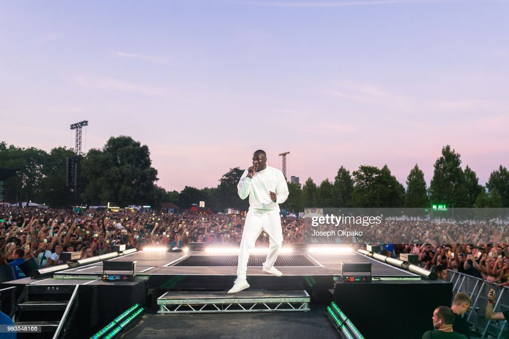 Stormzy performs on Day 2 of Wireless Festival 2018 at Finsbury Park on July 7, 2018 in London, England.