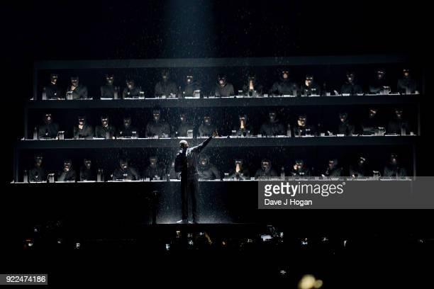 AWARDS 2018 *** Stormzy performs on stage at The BRIT Awards 2018 held at The O2 Arena on February 21 2018 in London England