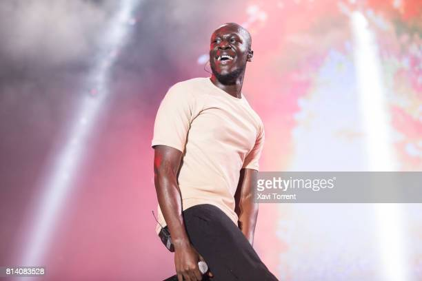 Stormzy performs on stage during day 1 of Festival Internacional de Benicassim on July 13 2017 in Benicassim Spain