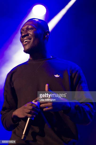 Stormzy performs onstage at The Brighton Dome headlining Day 3 of The Great Escape 2016 on May 21 2016 in Brighton England