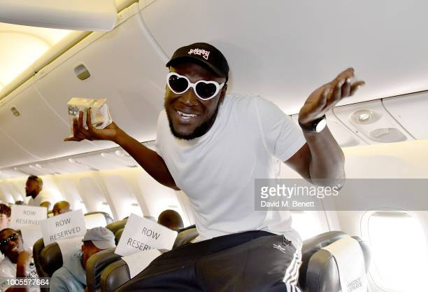 Stormzy travels on #MerkyAirways as Spotify Premium throws the ultimate party in Spain for his 25th birthday on July 26 2018 in Menorca Spain