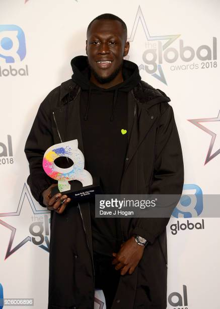 Stormzy wins the Best RnB Hip Hop or Grime Award at The Global Awards a brand new awards show hosted by Global the Media Entertainment Group at...