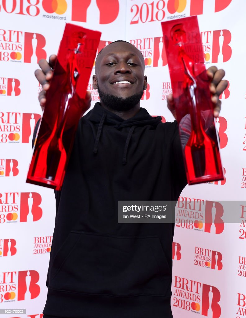 Brit Awards 2018 - Press Room - London : Nachrichtenfoto