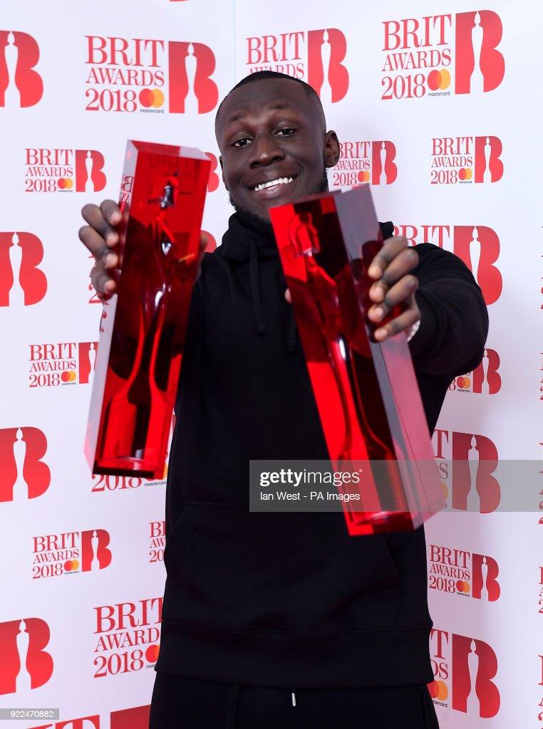 Brit Awards 2018 - Press Room - London : Fotografía de noticias