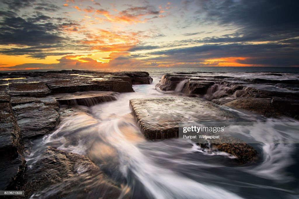 Storng Wave at Narrabeen Breeze : Stock Photo