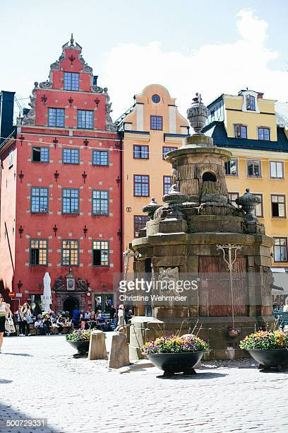 Stortoget is the public square located in the middle of Gamla Stan of Stockholm in Sweden. In the middle there is a stone well with beautiful, tall...