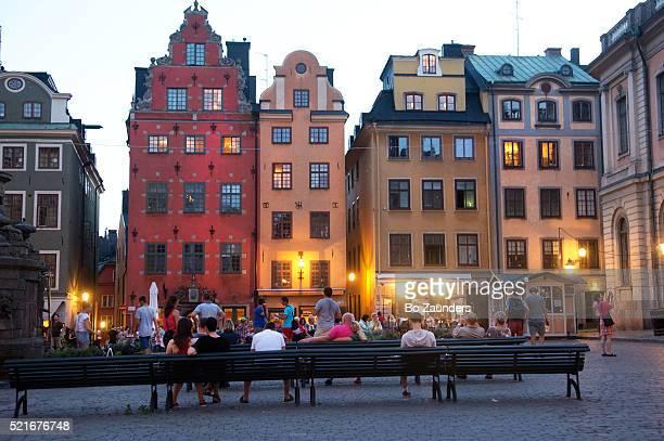 stortorget, gamla stan, stockholm - stockholm stock-fotos und bilder