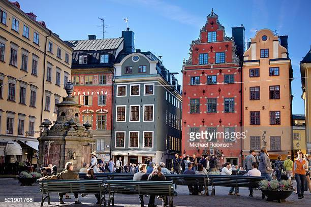 stortorget gamla stan stockholm - stockholm stock pictures, royalty-free photos & images