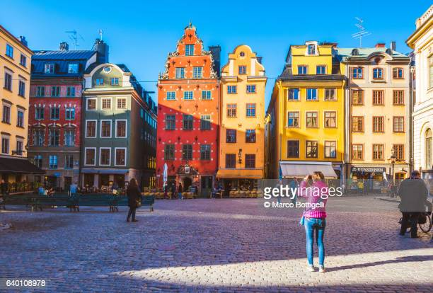 stortorget, gamla stan, stockholm, sweden, northern europe. - famous place stock pictures, royalty-free photos & images