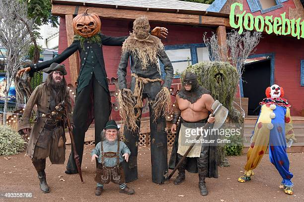 Story characters attend the premiere of Sony Entertainment's 'Goosebumps' at the Regency Village Theater on October 4 2015 in Westwood California