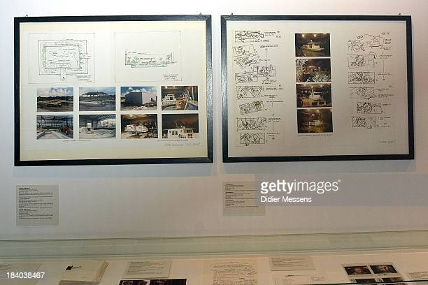 A storyboard and set of pictures of the movie Cape Fear is shown as part of the Martin Scorsese Exhibition at Caermersklooster on October 10 2013 in...