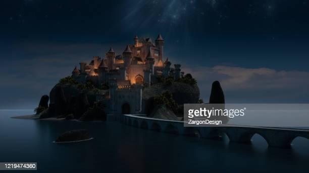 castelo de contos de histórias - conto de fadas - fotografias e filmes do acervo