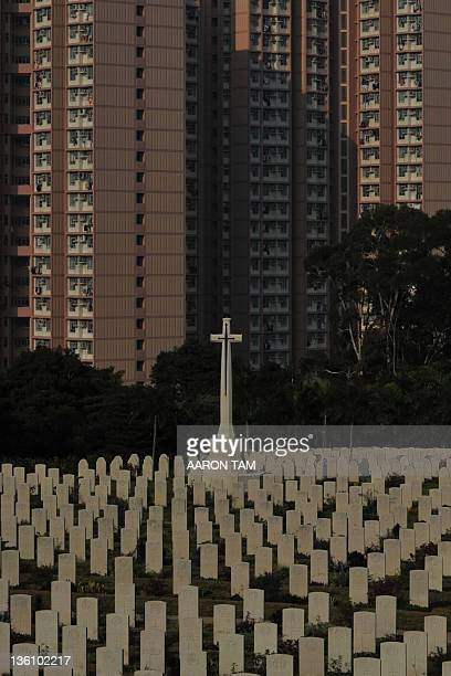 HongKongWWIIhistoryBritainCanadaJapanChristmasFOCUS In a picture taken on December 22 graves of the war dead are seen at the Hong Kong Sai Wan War...