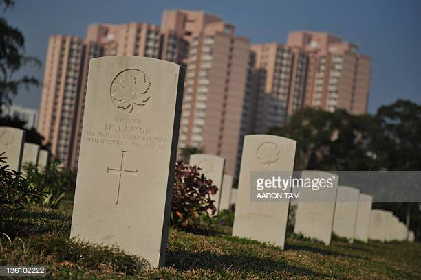 HongKongWWIIhistoryBritainCanadaJapanChristmasFOCUS In a picture taken on December 22 The gravestone of Canadian Brigadier John Kelburne Lawson the...