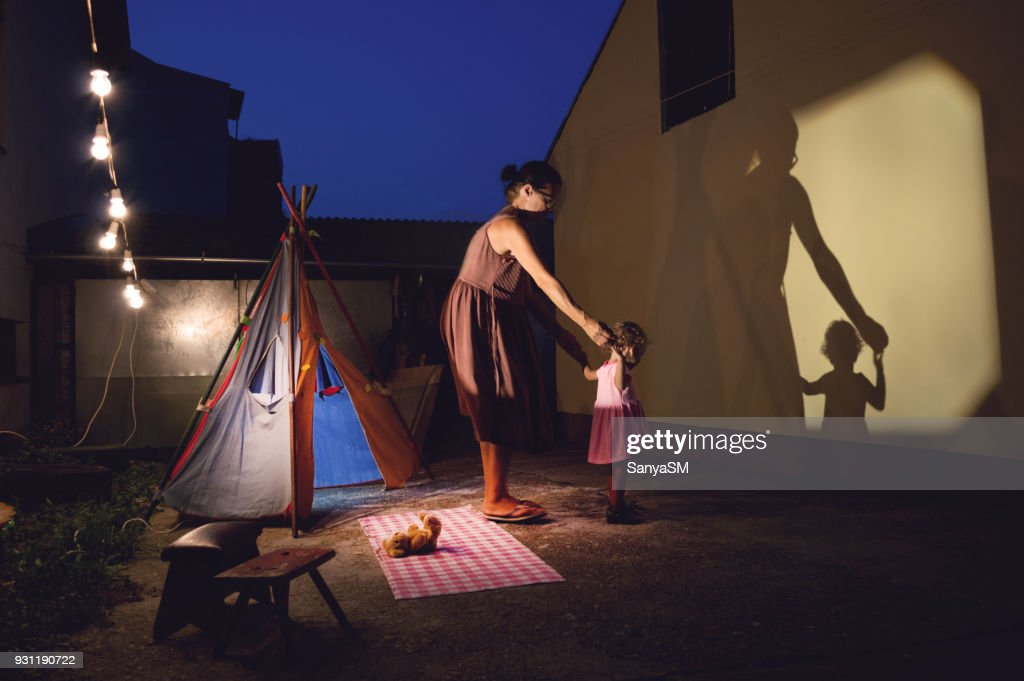 Storytelling in our backyard : Stock Photo
